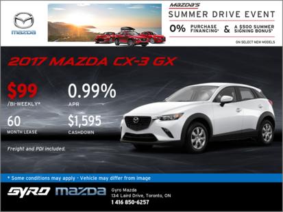 Get the 2017 Mazda CX-3 GX Now!