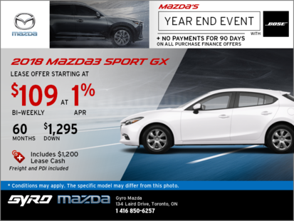 Drive Home the 2018 Mazda3 Sport GX Today!
