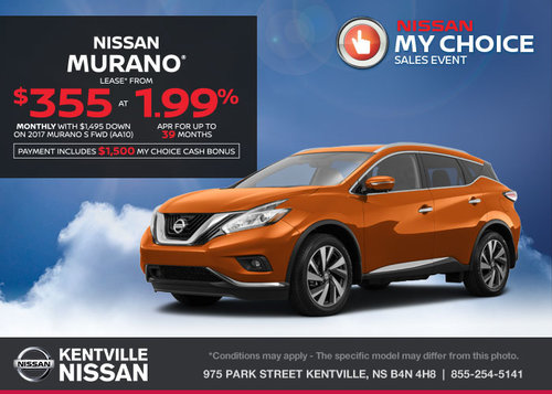 Lease the 2017 Nissan Murano Today!