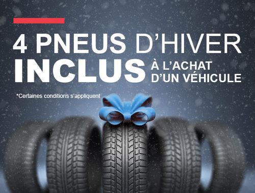 4 pneus d'hiver inclus à l'achat d'un véhicule