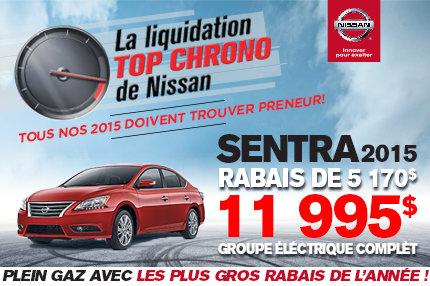 Cette semaine c'est la Liquidation TOP CHRONO chez NISSAN!