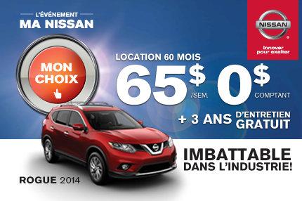 Nissan Rogue 2014 à compter de 65$ par semaine