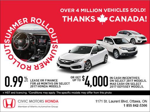 Honda's Summer Rollout Event