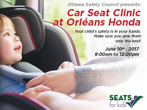 Car Seat Clinic at Orléans Honda
