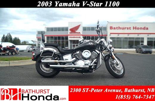 Used 2003 Yamaha V-Star 1100 at Edmundston Honda   #B9010A