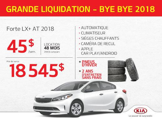 Offre clé en main sur la Forte LX+ Automatique 2018