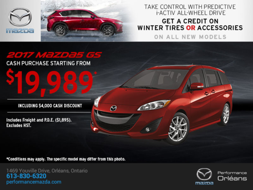 Save on the 2017 Mazda5!