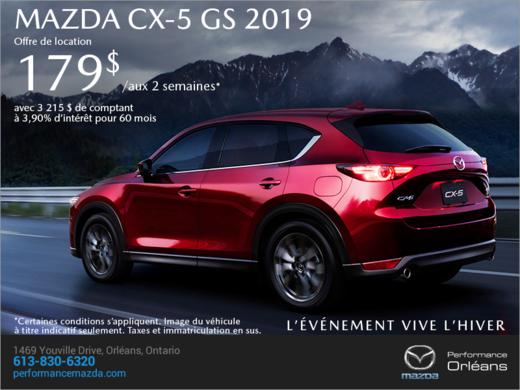 Procurez-vous le Mazda CX-5 2019 aujourd'hui! chez Performance Mazda à Ottawa