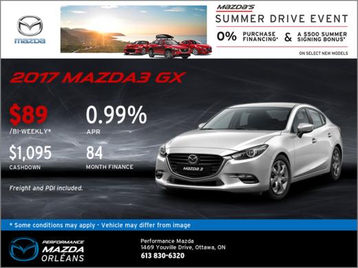 Finance the 2017 Mazda3 GX Today!