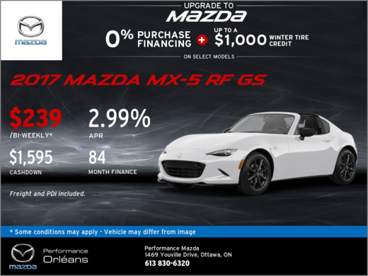 The All-New 2017 Mazda MX-5 RF GS!