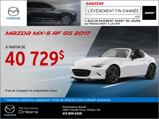 Save on the 2017 Mazda MX-5 RF Today!