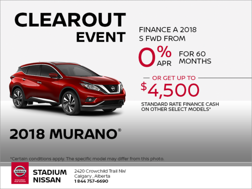 Get the 2018 Murano Today!