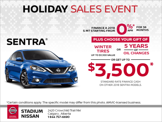 Get the 2018 Nissan Sentra Today!