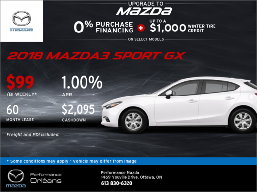 Get the 2018 Mazda3 Sport GX Today!