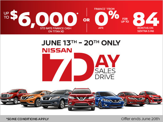nissan's 7 day sales event! - stadium nissan promotion in calgary