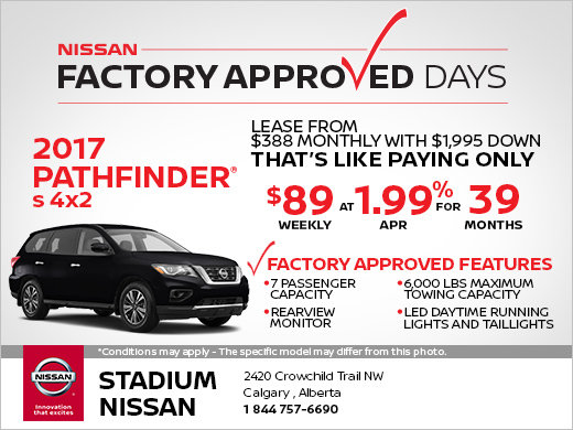 Save on the Brand-New 2017 Nissan Pathfinder!