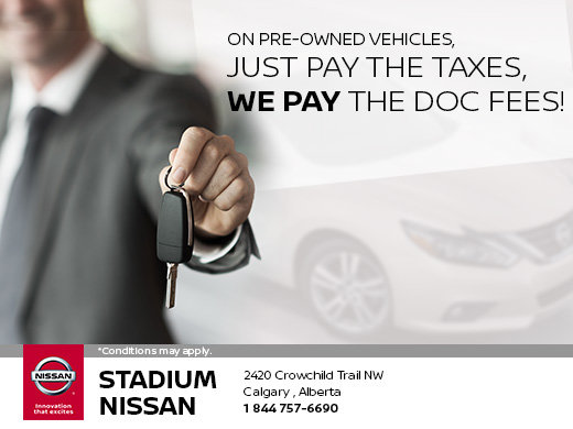 We Pay the Doc Fees on Pre-Owned Vehicles!