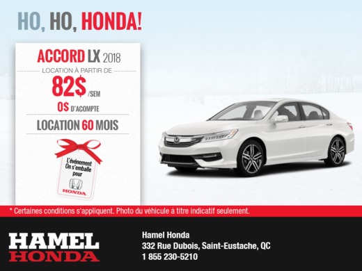 Louez la Honda Accord 2018