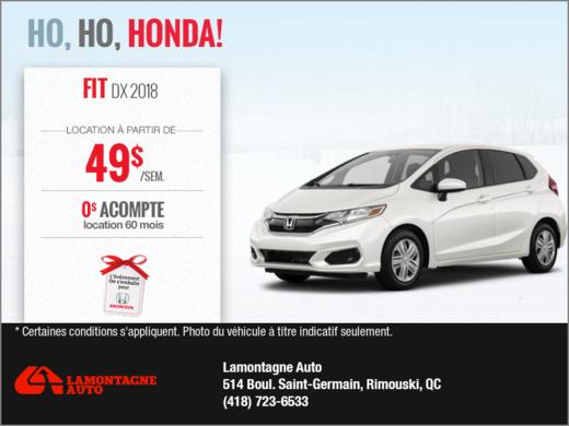 La nouvelle Honda Fit 2018!