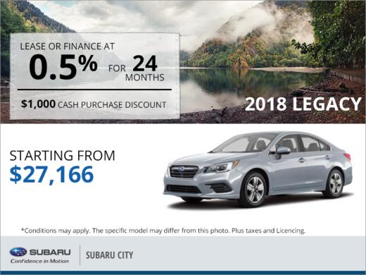 Get the 2018 Subaru Legacy Today!