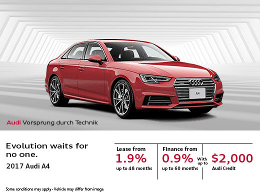 Save Big on the New Audi A4