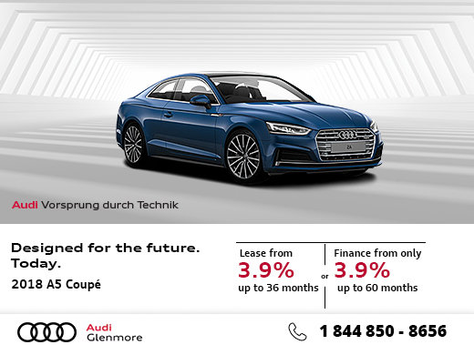 Save Big on the All-New 2018 Audi A5 Coupé