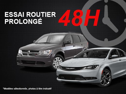 Lévis Chrysler vous offre un essai routier de 48H