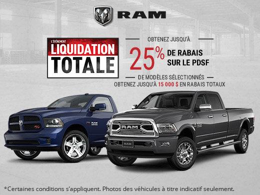 L'événement liquidation totale RAM