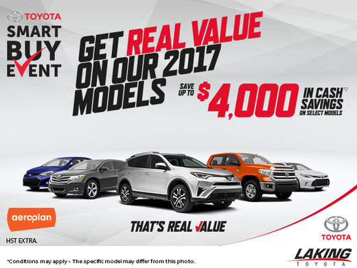 Experience Toyota's Smart Buy Sales Event!