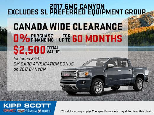 Save Big on the New 2017 GMC Canyon!
