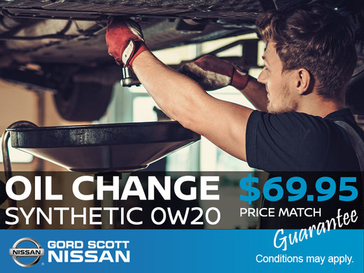 Synthetic Oil Change for only $69.95!