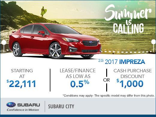 Huge Savings on the 2017 Impreza
