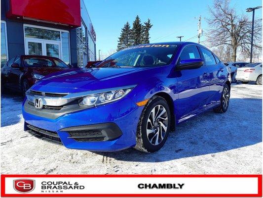 Honda Civic EX*JAMAIS ACCIDENTÉ*1 SEUL PROPRIO*MAG D'ORIGINE 2016
