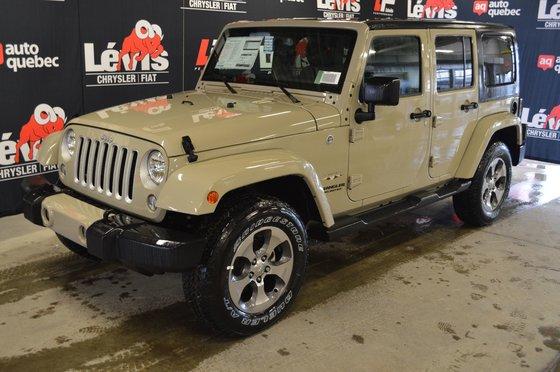 Jeep Wrangler Unlimited SAHARA BLUETOOTH GPS ATTACHE REMORQUE 2017
