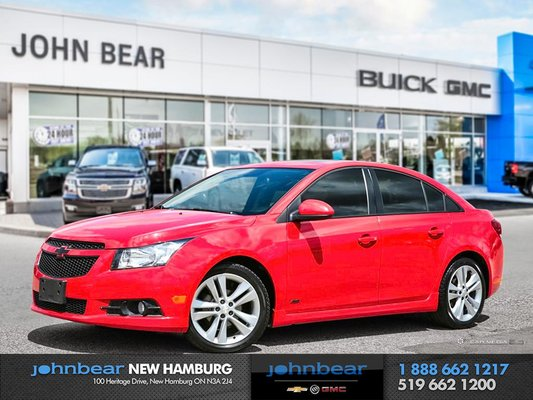 2014 Chevrolet Cruze 2LT - RS, MANUAL, LEATHER, ROOF