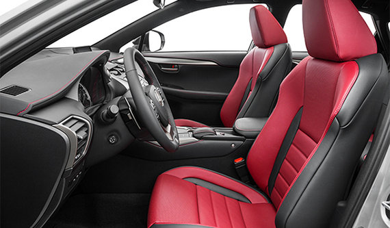 F-SPort Circuit Red Nuluxe Leather