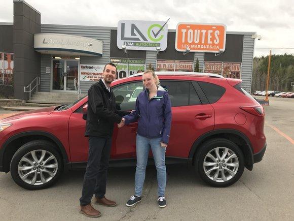 Félicitations à mme Veronique Desbiens pour votre nouvel achat un Mazda cx5 2016 merci pour votre confiance et bonne route