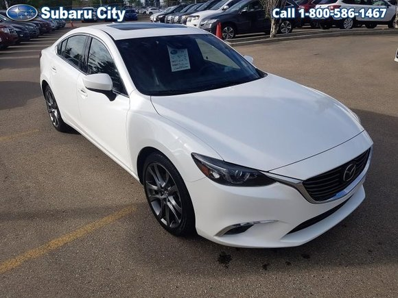 2017 Mazda Mazda6 GT,LEATHER,SUNROOF,AIR,TILT,CRUISE,PW,PL,LOCAL TRADE,CLEAN CARPROOF!!!!