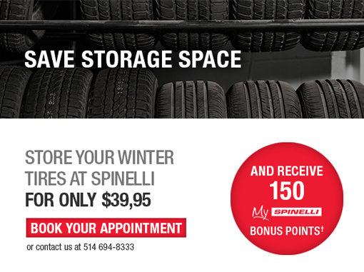 Tire Storage - Easy and without trouble - Spinelli Honda Lachine