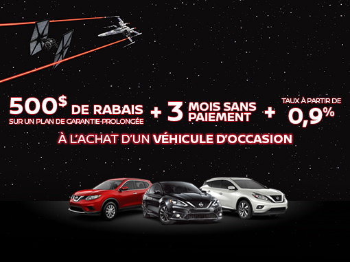 Promotion véhicules d'occasion Nissan