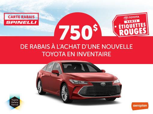 La Vente Étiquettes Rouges chez Spinelli Toyota