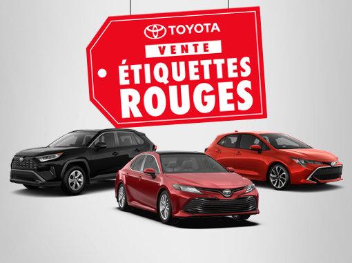 Vente Étiquettes Rouges Toyota