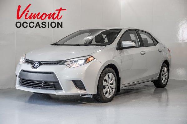 2014 Toyota Corolla LE CAMERA RECUL SIEGE CHAUFFANTS