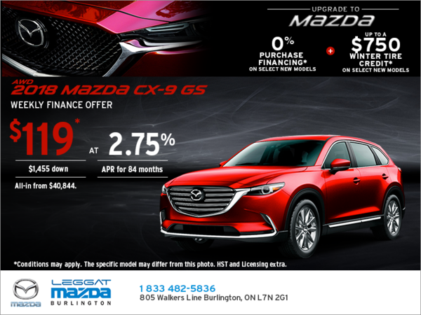 Get the 2018 Mazda CX-9 Today!