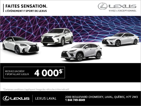 Faites sensation. L'événement F Sport de Lexus