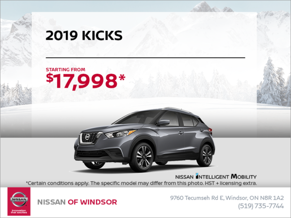 Get the 2019 Kicks Today!
