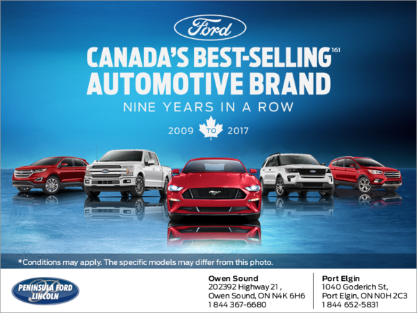 Canada's Best Selling car 9 years in a row!