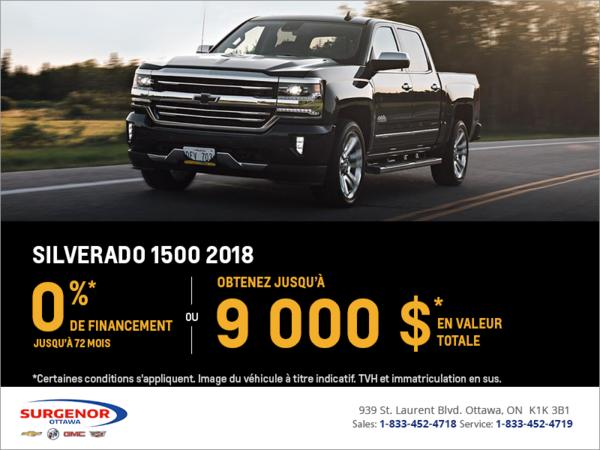Financez le Chevrolet Silverado 1500 2018