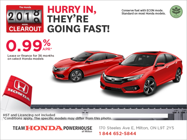 The Honda 2018 model clearout event