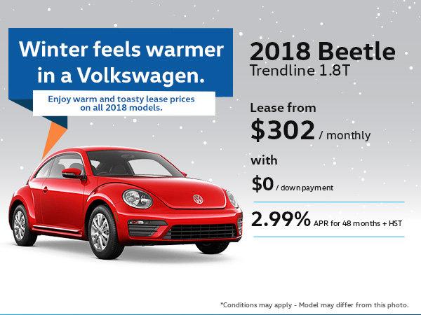 Drive Home the 2018 Volkswagen Beetle